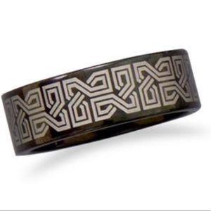 New Black Tungsten Celtic Design Ring